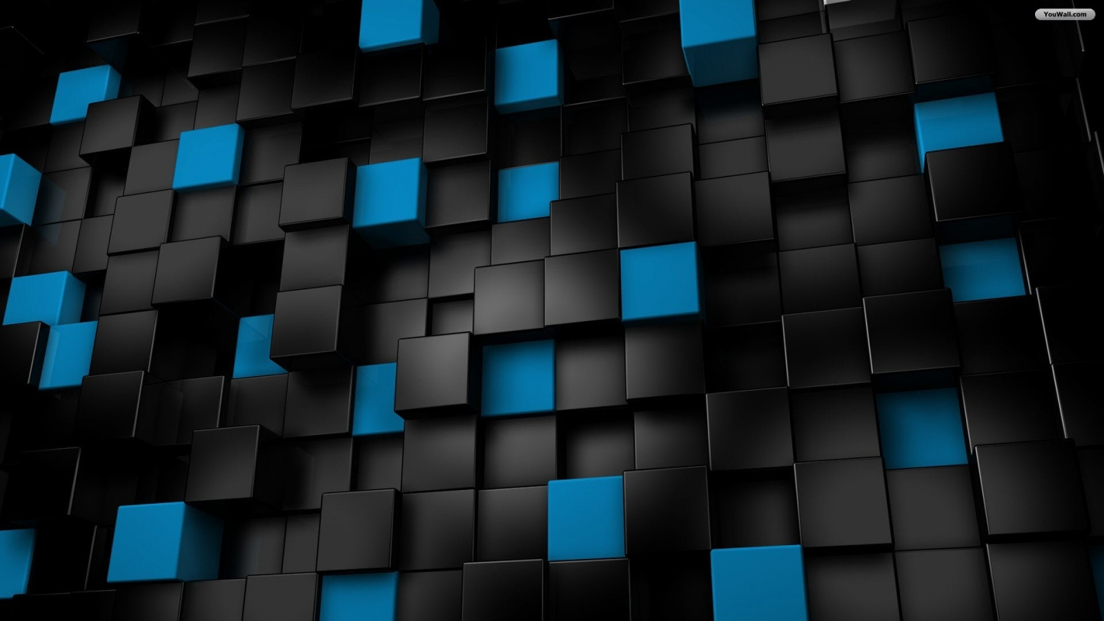 black And blue cubes wallpaper1
